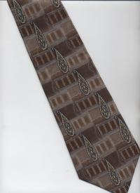 Stafford Executive Tie - Brown, Beige, Gray, White ...
