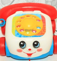 fisher price chatter telephone pull rotary color dial toy phone kids or toddler [ 1421 x 1207 Pixel ]