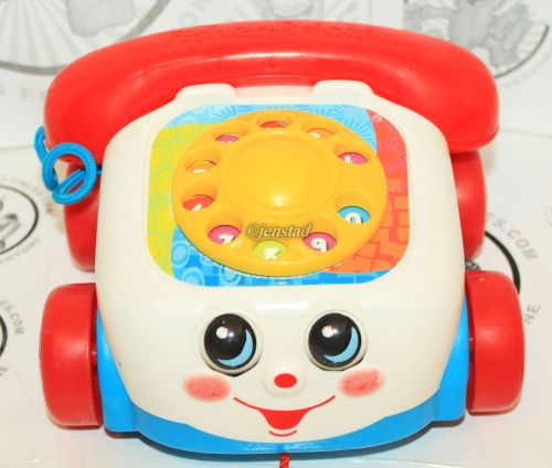 small resolution of fisher price chatter telephone pull rotary color dial toy phone kids or toddler