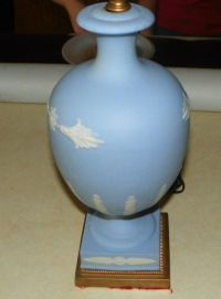 Blue Wedgwood Decorative Table Lamp - Lamps