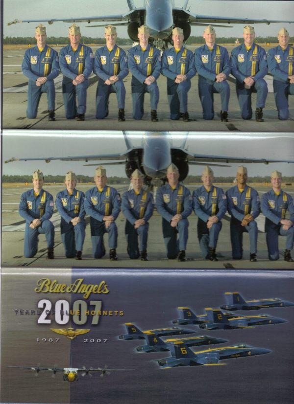 2007 Blue Angels Enlisted Brochure Poster - Airshows