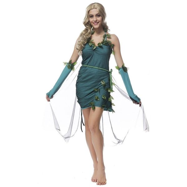 Green Beautiful Elf Woman Refinement Costume Forest Tree