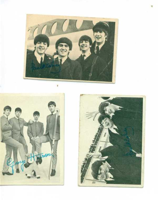 Beatles Cards 3 Black And White Vintage T Ringo