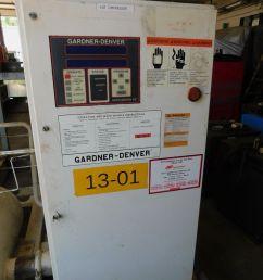gardner denver 100hp rotary screw air compressor 125 psi [ 1200 x 1600 Pixel ]