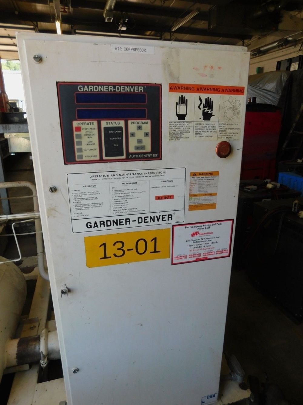 medium resolution of gardner denver 100hp rotary screw air compressor 125 psi