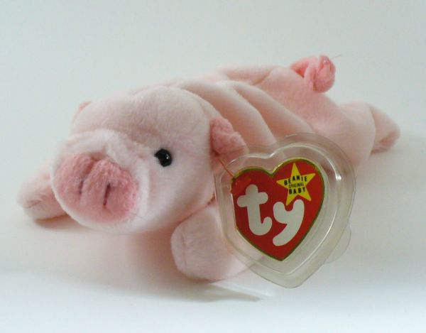 Retired Ty Beanie Babies Squealer Pig Mint