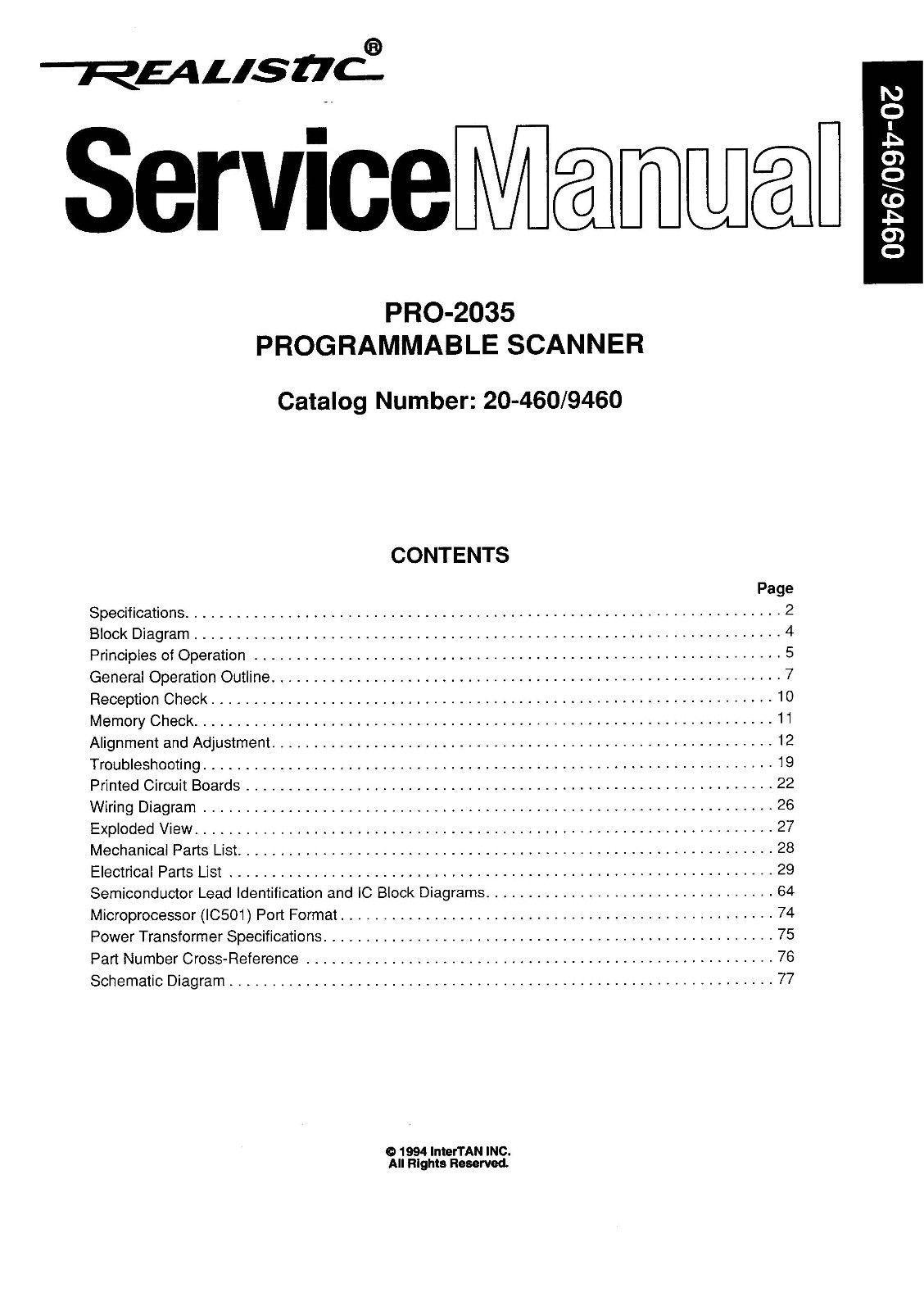hight resolution of realistic pro 2035 service manual cdrom pdf