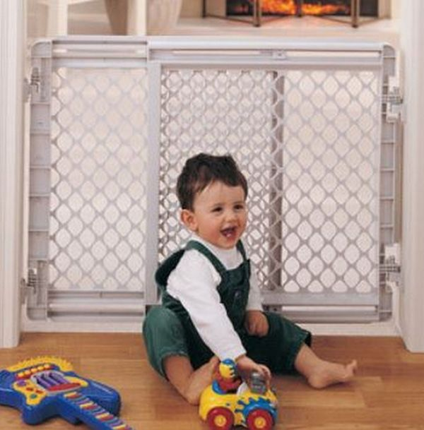 North States Plastic Stairway Baby Safety Gate Pet Heavy Duty Security - Gates