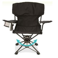 Swivel Camp Chair Covers For Rent Dallas Tx Revolve Patio Pool Folding Portable Tailgateing Quad