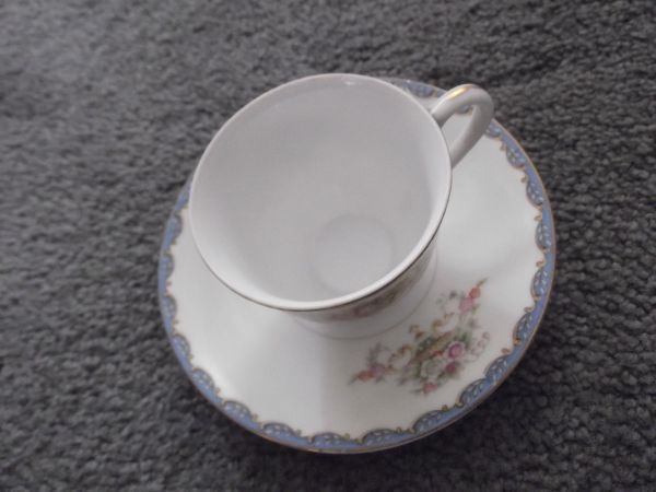 Occupied Japan Collectable Cherry China Demi Cup & Saucer