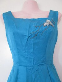 1950s vintage blue formal prom dress size extra small xs ...