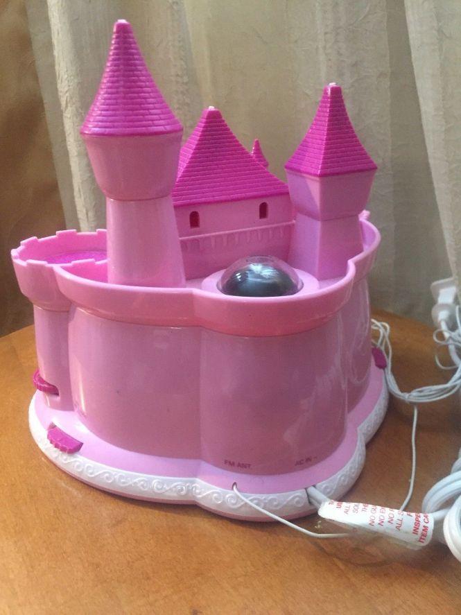 Pink Princess Disney Castle Alarm Clock