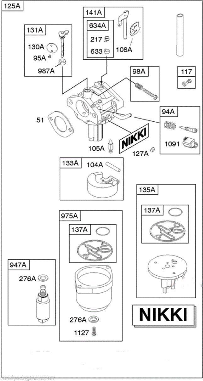 briggs and stratton nikki carburetor crossover cable wiring diagram t568b 593433 & similar items