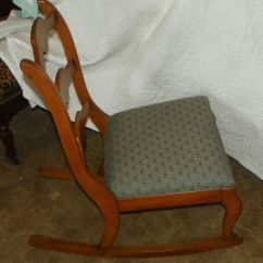 Maple Rocking Chair Unusual Comfy Sewing Rocker R173 Post 1950