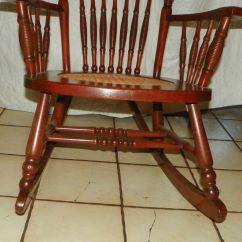 Rocking Chair Cane Best Nursing Chairs Cherry Carved Seat Rocker R175