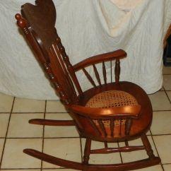 Rocking Chair Cane Landshark Adirondack Cherry Carved Seat Rocker R175
