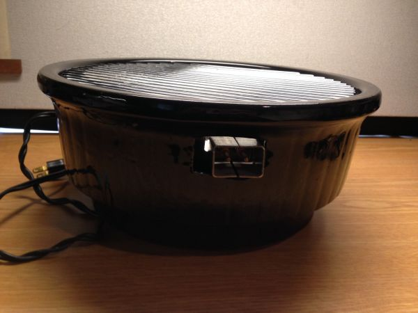 Rival Black Stoneware Crock Grill Indoor Electric