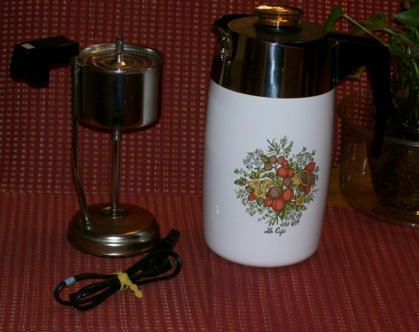 Vintage Corning Ware Spice Of' Life Electric Coffee Pot