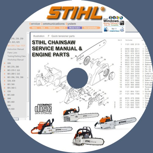 small resolution of stihl chainsaw 009 017 018 019t 020t 021 023 025 service repair manuals engine
