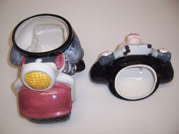 1996 Clay Art Hand Painted Road Hog Motorcycle Cookie Jar