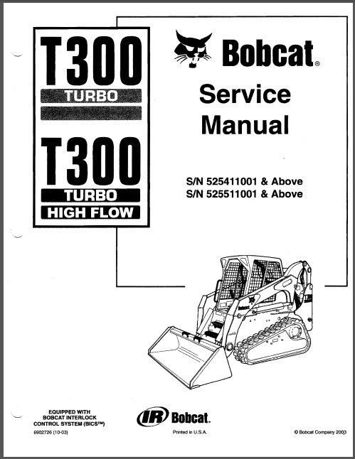 Bobcat T300 Turbo Skid Steer Loader Service Repair