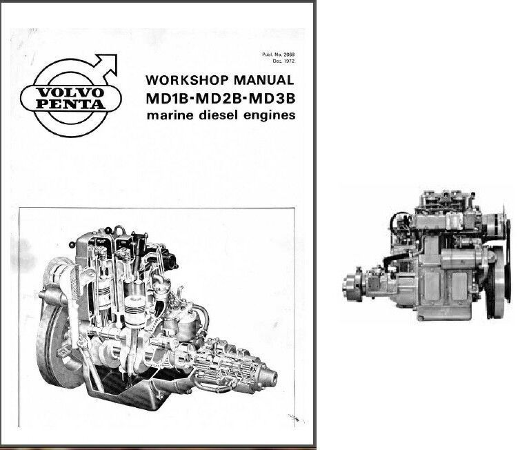 Volvo Penta MD1B MD2B MD3B Engine Marine and similar items