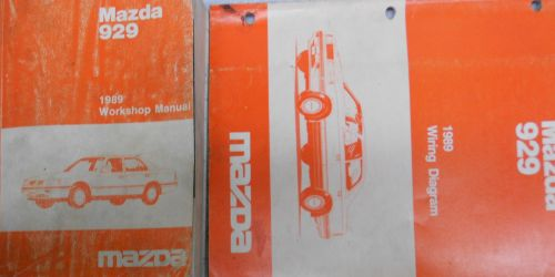 small resolution of 1989 mazda 929 service repair shop manual set factory oem rare how to fix 89 22 28
