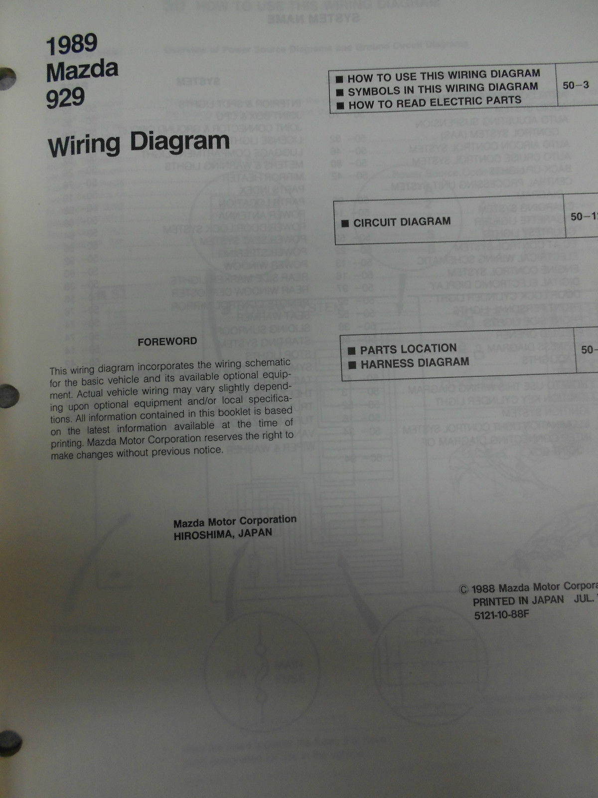 hight resolution of 1989 mazda 929 service repair shop manual set factory oem rare how to fix 89
