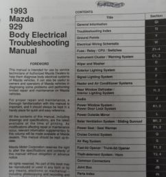 1993 mazda 929 body electrical troubleshooting service repair shop manual oem [ 1024 x 768 Pixel ]
