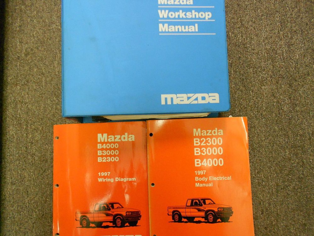 medium resolution of 1997 mazda b series truck b2300 3000 4000 service repair shop manual set books x