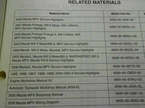 small resolution of 2003 mazda 6 factory service manual