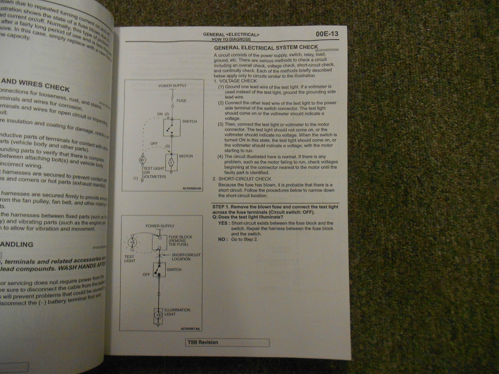 hight resolution of 2009 mitsubishi galant electrical supplement service shop manual water damage 04