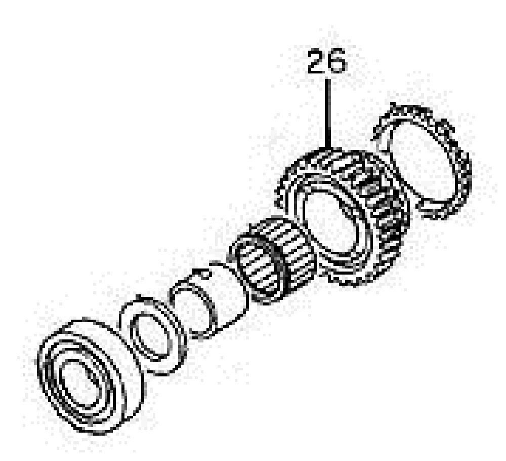 GM Transmission 4th Gear. Part Number: 97071760. GM