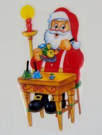 Christmas Window Cling Decorations ~ 10pc Set w/Six Re ...