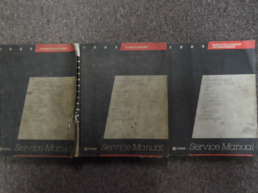 hight resolution of 1985 mopar plymouth reliant service shop and 50 similar items s l1600