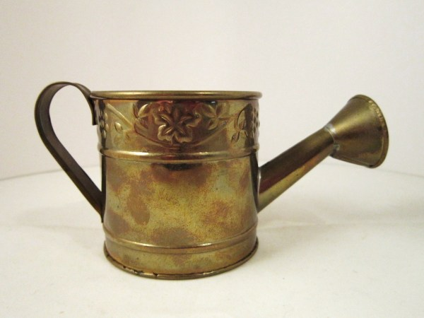Tin Metal Watering Can with Spout