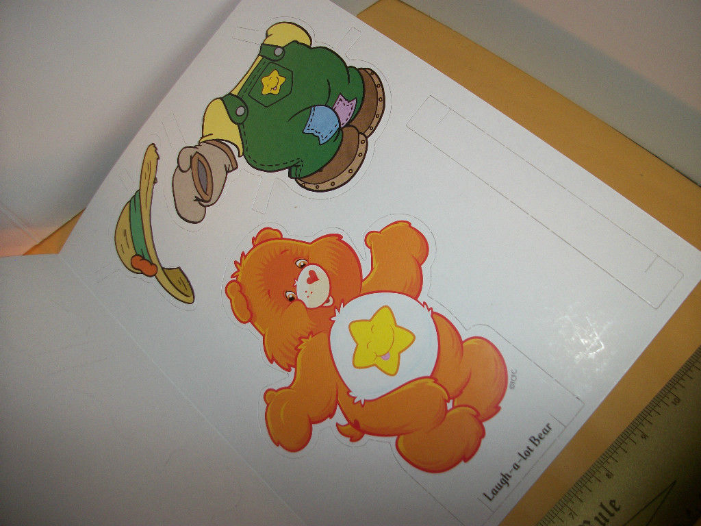 Care Bears Paper Doll Book Cartoon Sun Fun Model Play Activity Set Funshine Card