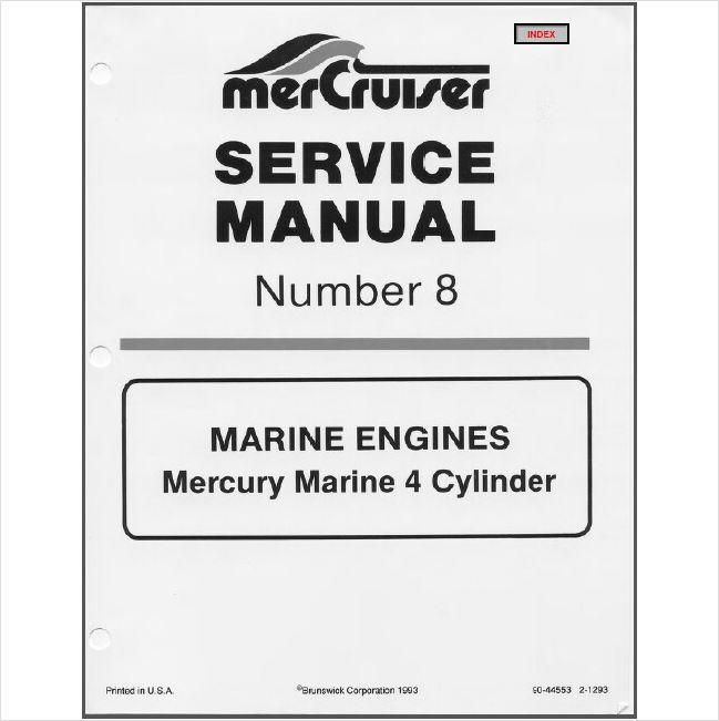 85-89 MerCruiser # 8 Marine 4 Cylinder Service Repair