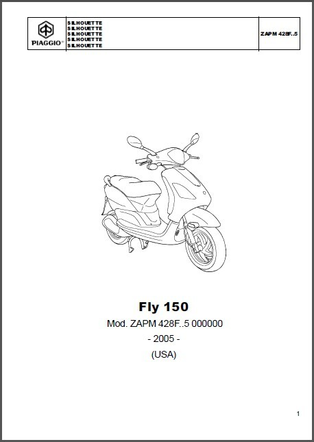 Piaggio Fly 125 150 4T Scooter Service Repair Workshop