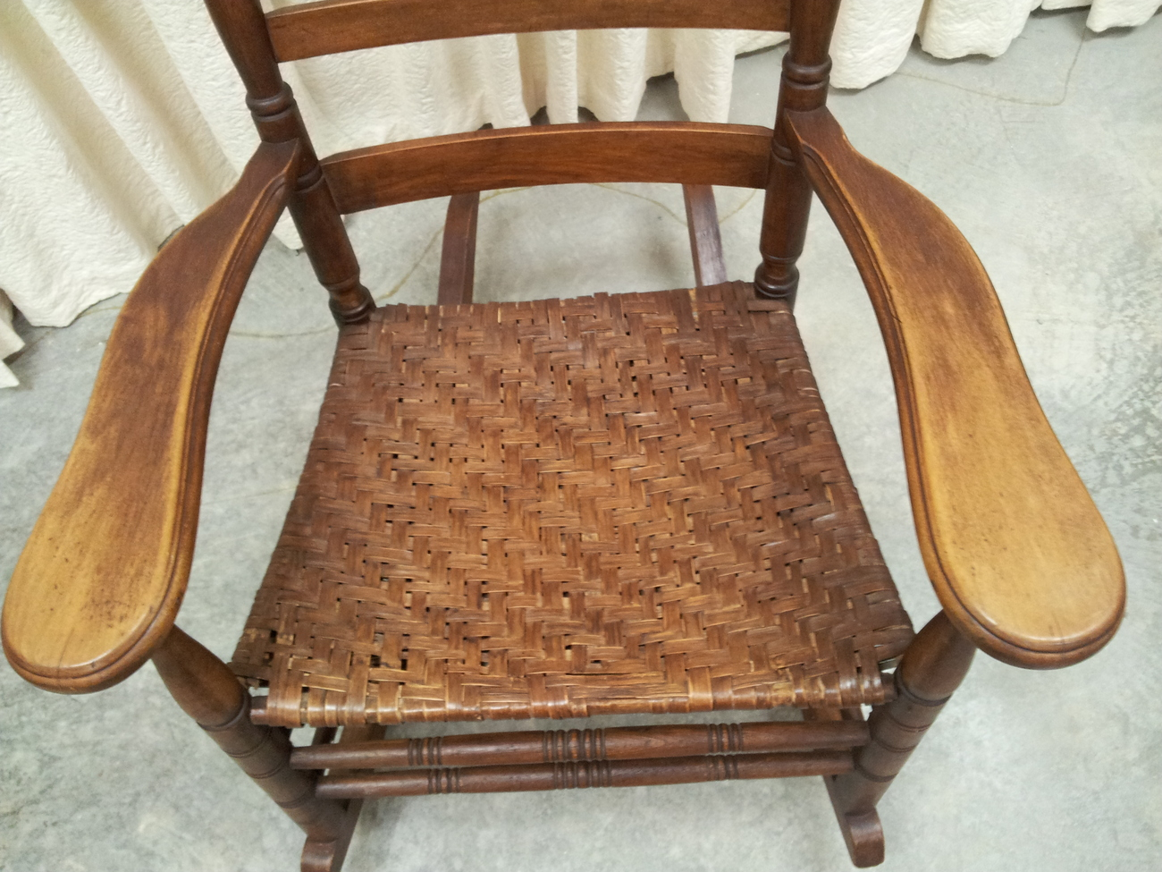 maple rocking chair folding chairs target antique with original split hickory
