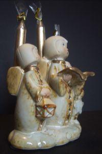 Ceramic Christmas Caroling Angel Candle Holder - Candles ...
