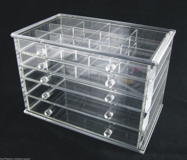 Clear Acrylic 5-drawer Counter Top Storage Organizer #5692 - Makeup Bags & Cases