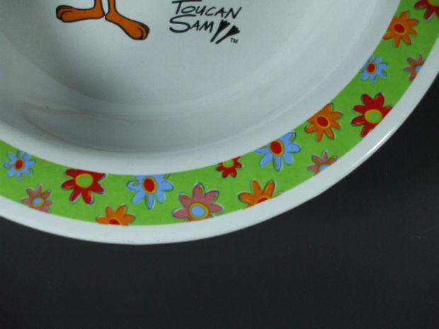TOUCAN SAM Ceramic Cereal Bowl Kellogg's Fruit Loops 2002 EUC - Kellogg