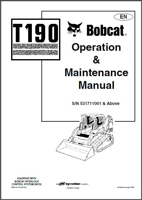 Bobcat T190 Compact Track Loader Operation & Maintenance