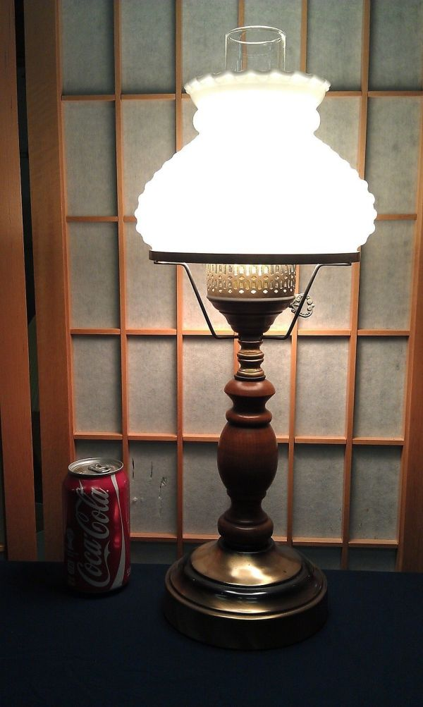 """9f58 Vtg Colonial Table Lamp 20"""" Withhobnail And 39 Similar"""