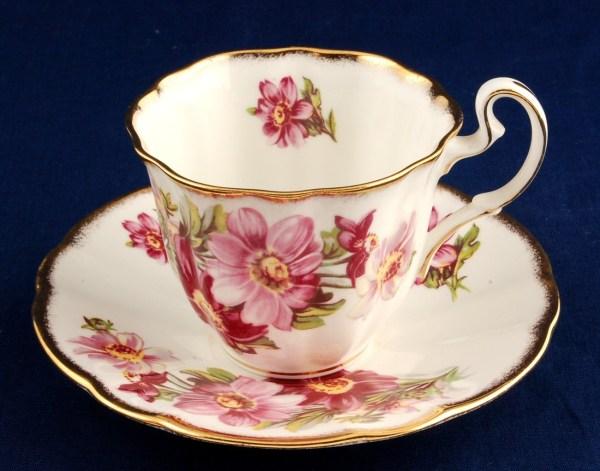 Adderley Floral Cup & Saucer H1089 Fine Bone China England