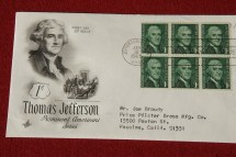 Thomas Jefferson 1 Cent US Stamps