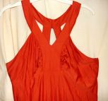 Red Halter Top Vintage Spandex Knit Gown-size