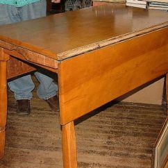Apartment Size Kitchen Table Auctions Vintage 1950s Solid Rock Maple Drop Leaf