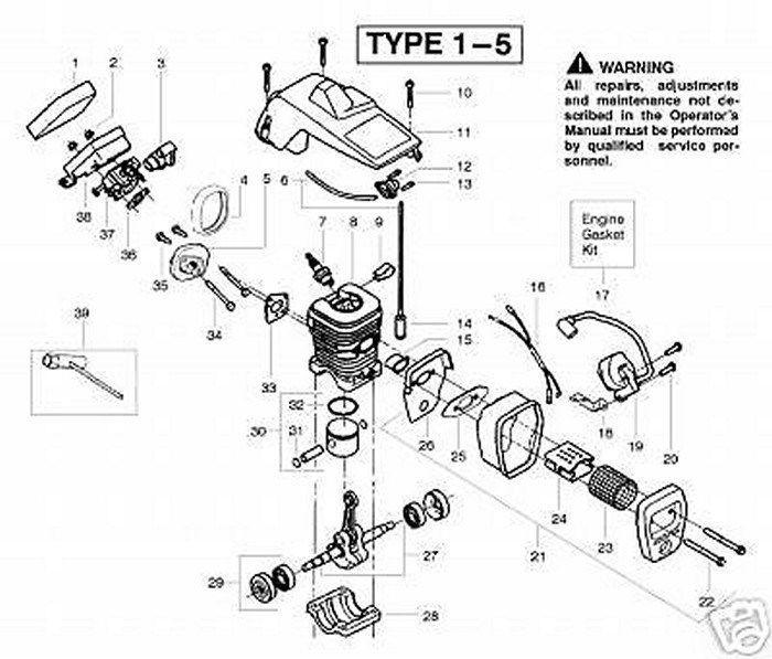 530038729 Poulan Craftsman, Sears Piston Ring New OEM